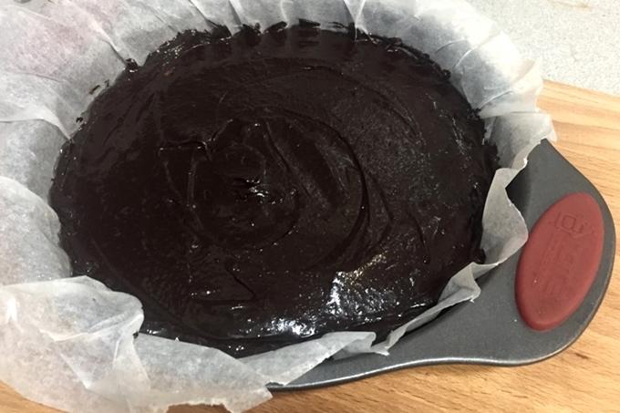 Brownie de lentejas y miel