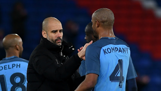 "Man City Boss Guardiola: ""Kompany Among Best I've Ever Seen"
