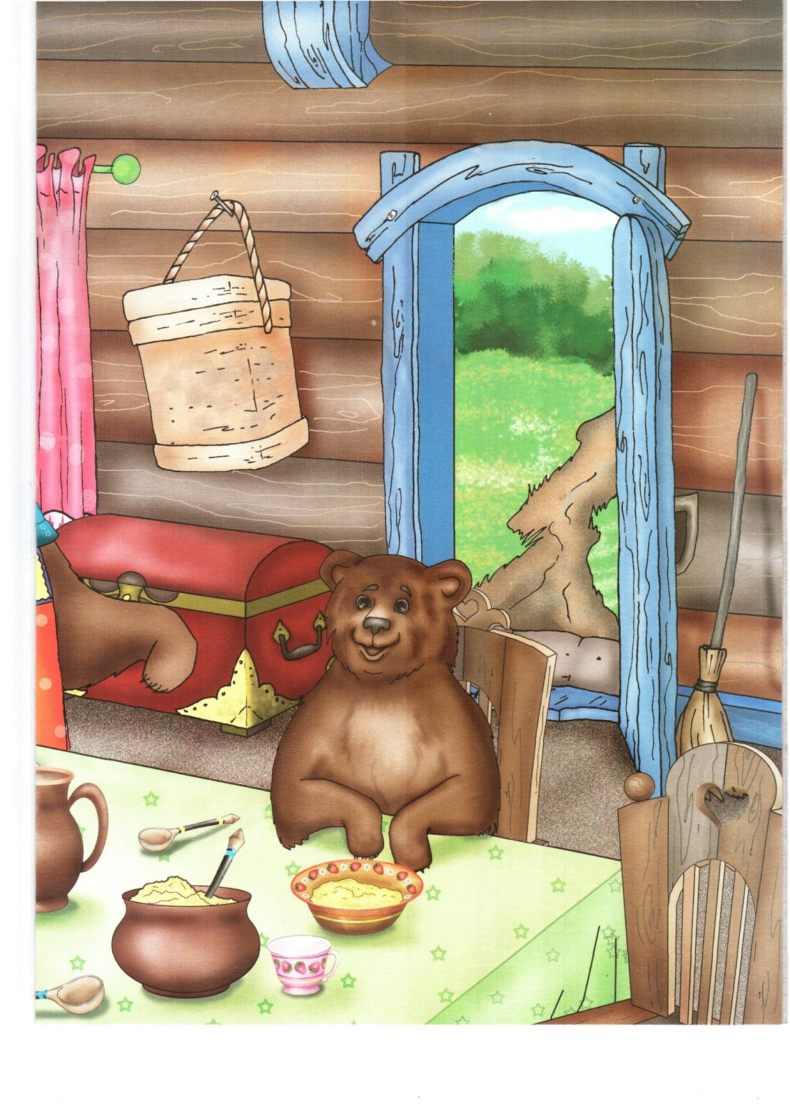 предметные картинки к сказке три медведя вам