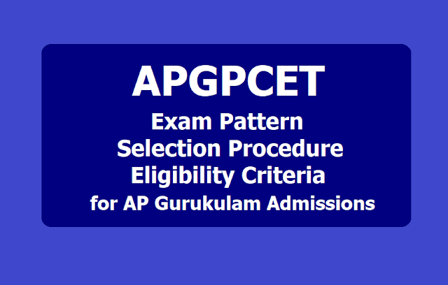 APGPCET 2019 Exam Pattern, Selection Procedure, Eligibility Criteria