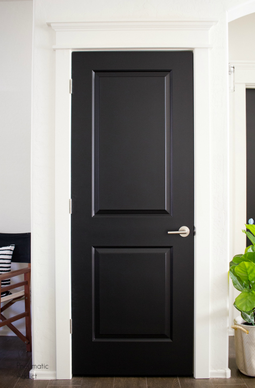 how to black interior doors replace update