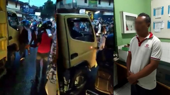 Viral! Video Sopir Truk Ngamuk Tantang Duel Anggota TNI di Samarinda