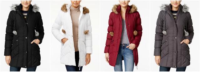 American Rag Faux Fur Trim Puffer Coat $34 (reg $100)
