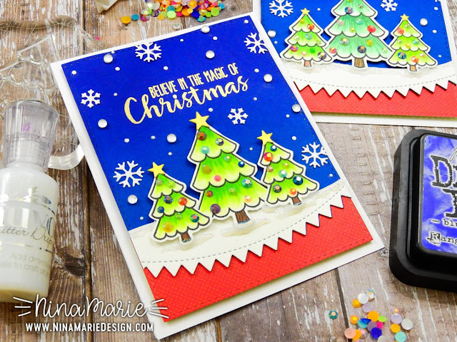 Sunny Studio Stamps: Gleeful Reindeer Customer Card Share by Nina Marie Trapani