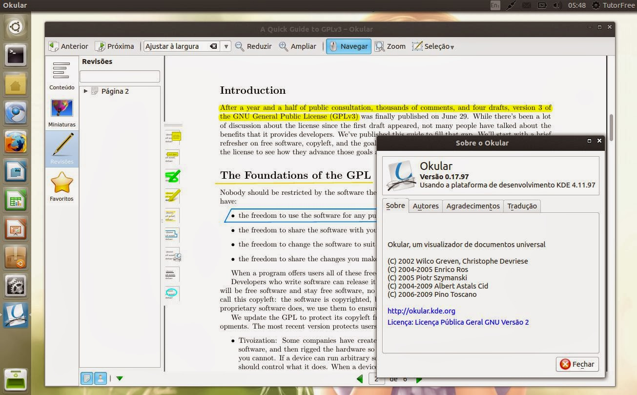 Okular Pdf Linux