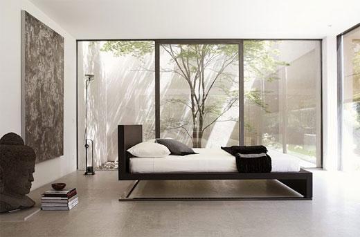 Hogares frescos urano dise o moderno cama minimalista for Design minimalista