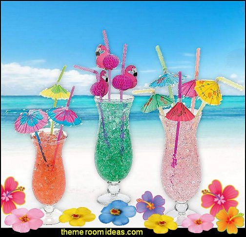decorative paper umbrellas for drinks Tropical party decorations - tropical party ideas - ALOHA Hawaii Luau Party Decorations - Luau Hawaiian Grass Table Skirt raffia Decorations - Hula Hibiscus Tropical Birthday Summer Pool Party Supplies - tiki party pineapple party decorations - beach party - Birthday party  photo backdrop - tropical themed cake decorations - beach tiki themed table decorations -  party props - summer party