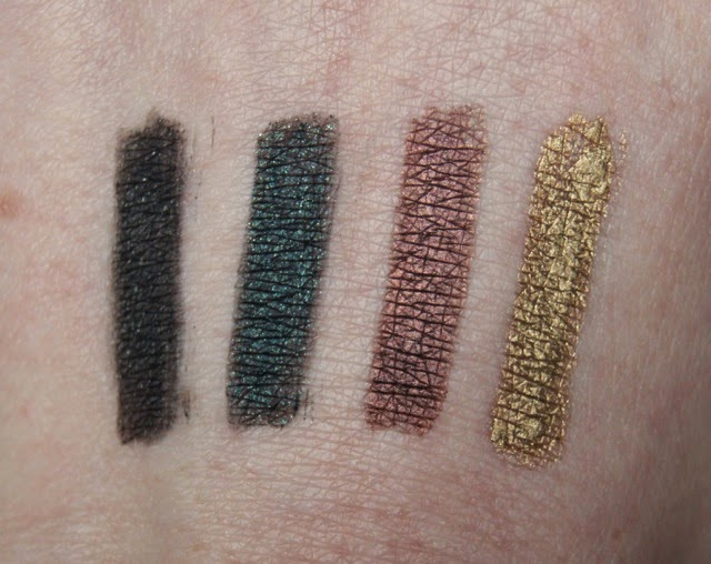 nars larger than life high pigment longwear eyeliners night clubbing night porter via appia campo de fiori swatches