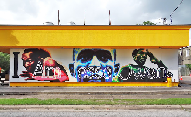 Jesse Owens mural at the Breakfast Klub (July 2015 photo)