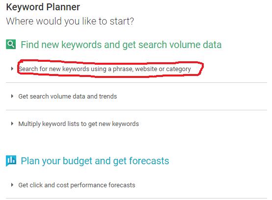 guna keyword planner