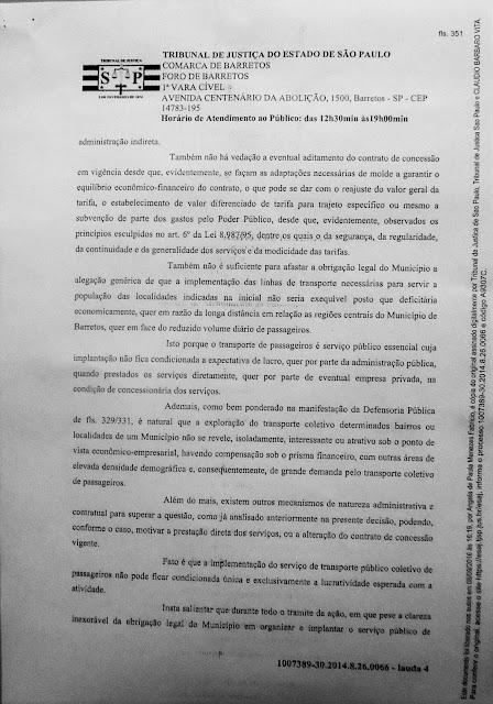 1007389-30.2014.8.26.0066 - Lauda 4 - Sentença Transportes Terrestres Zona Rural Barretos - Pag. 351