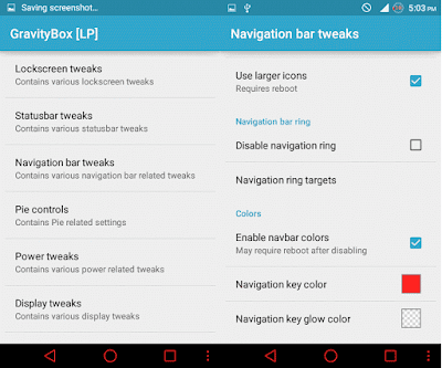 use gravity box to customize navigation bar android