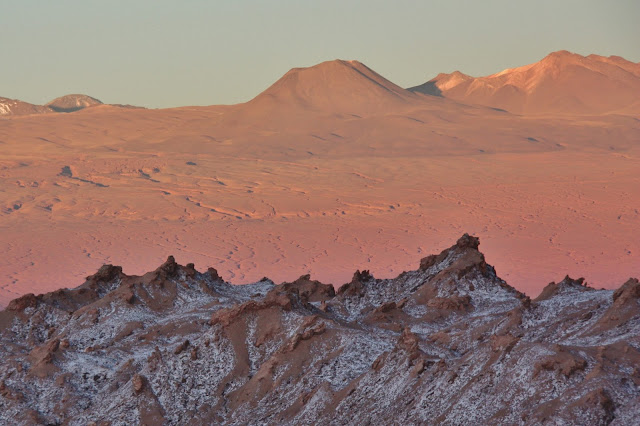 Pôr do Sol no Vale da Lua no Deserto do Atacama
