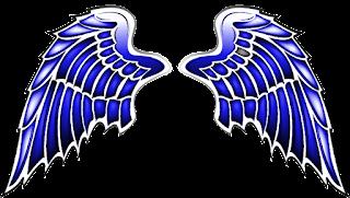 Logo Polos Sayap Warna Biru PNG