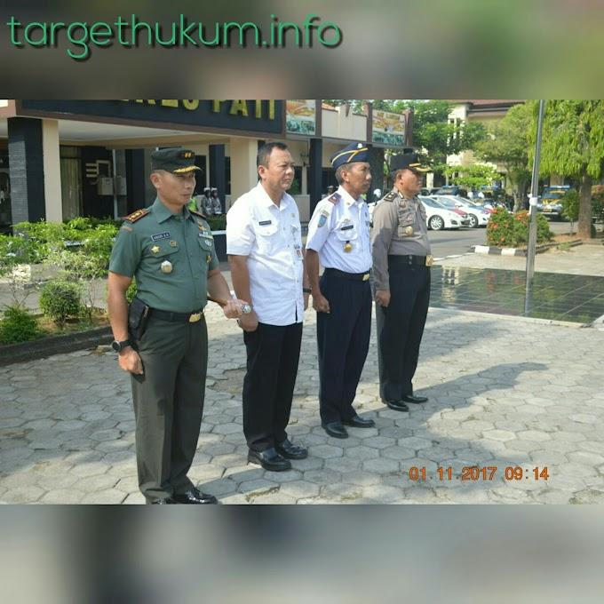 Dandim 0718 Pati Hadiri Apel Gabungan Ops Gabungan Candi 2017 Dihalaman Mapolres PATI