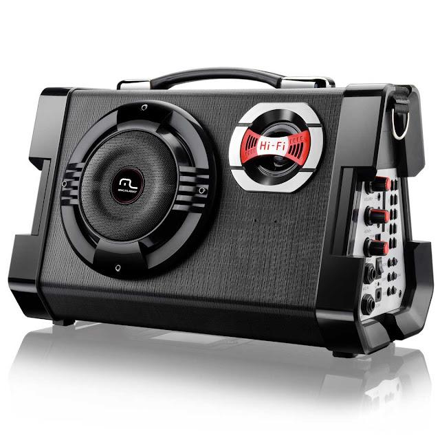 Caixa de Som Amplificada Multiuso Microfone Multilaser