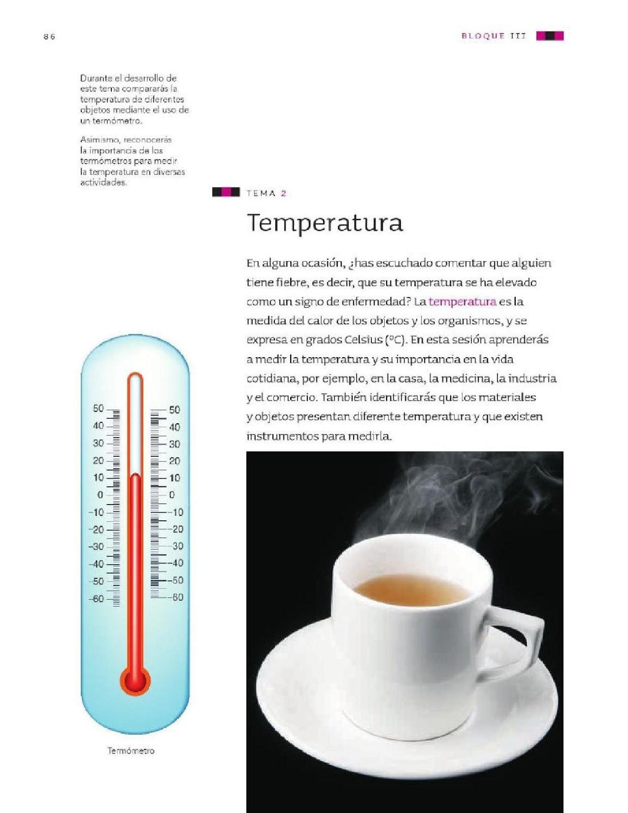 Temperatura - Bloque III - Tema 2 ~ Apoyo Primaria