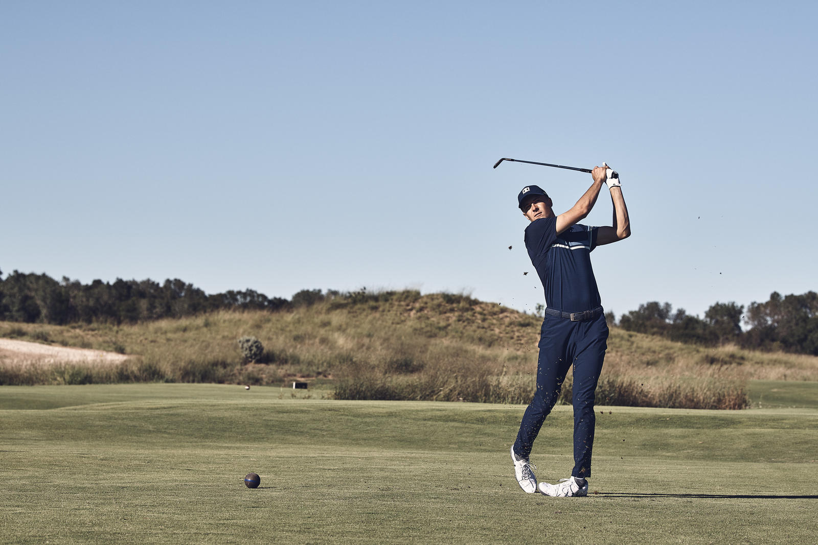 25f733739ae The material in Vanish is powered by the latest micro-thread technology  that removes moisture almost instantly, and will allow Spieth to remain  focused and ...