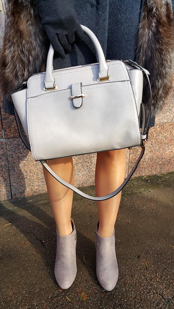 сумка, модная сумка, серая сумка