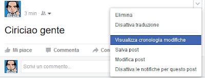 Come vedere la cronologia delle modifiche di un post su Facebook