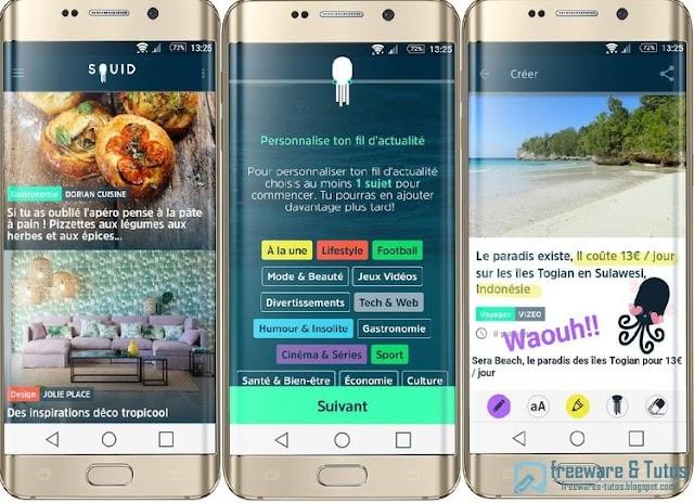 SQUID : une application Android innovante pour suivre l'actualité