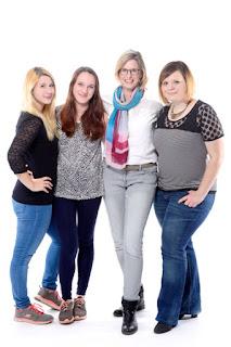 Grit, Luise, Anne und Nancy