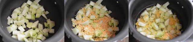 Step 1 - Chow Chow Kootu Recipe | Chayote squash kootu