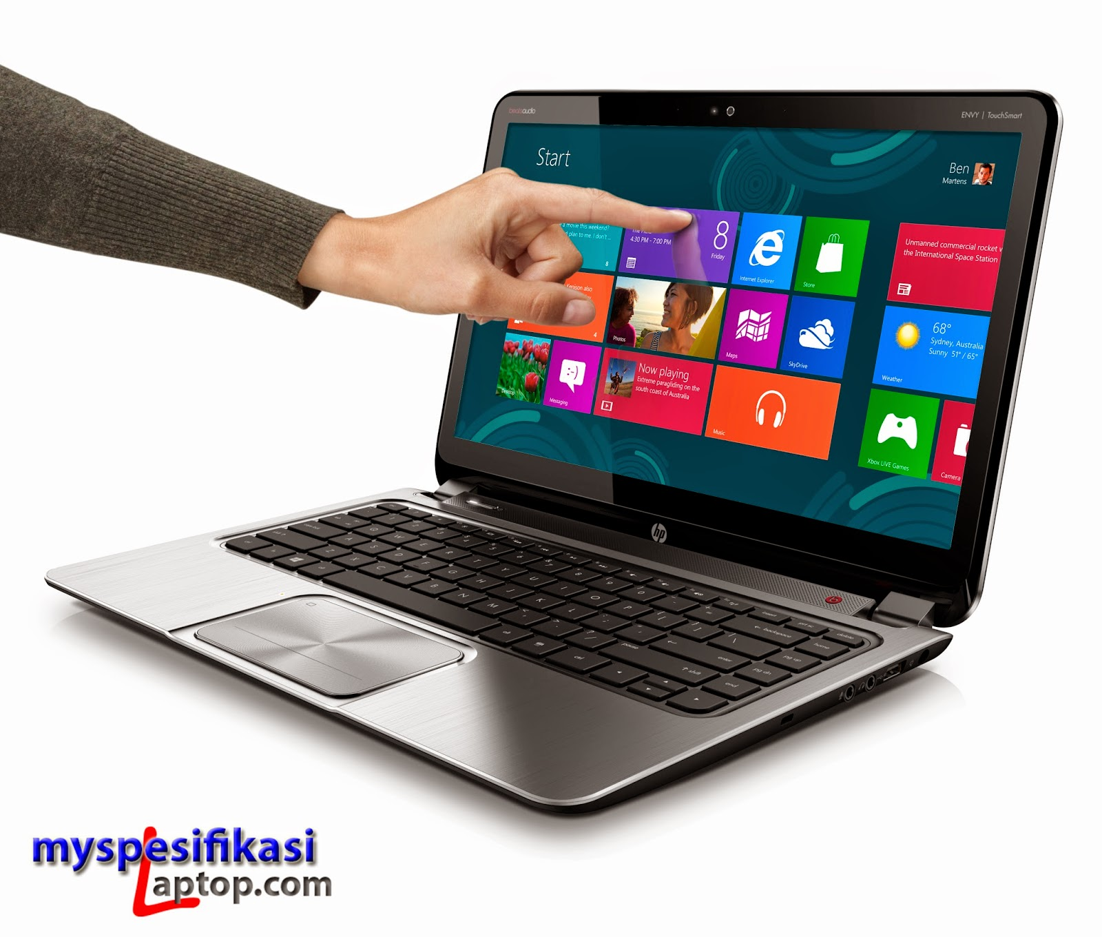 Ultrabook%2BHP%2BEnvy%2BTouchSmart%2B4%2B1 Review HP Envy TouchSmart 4, Ultrabook Pas Buat Bekerja