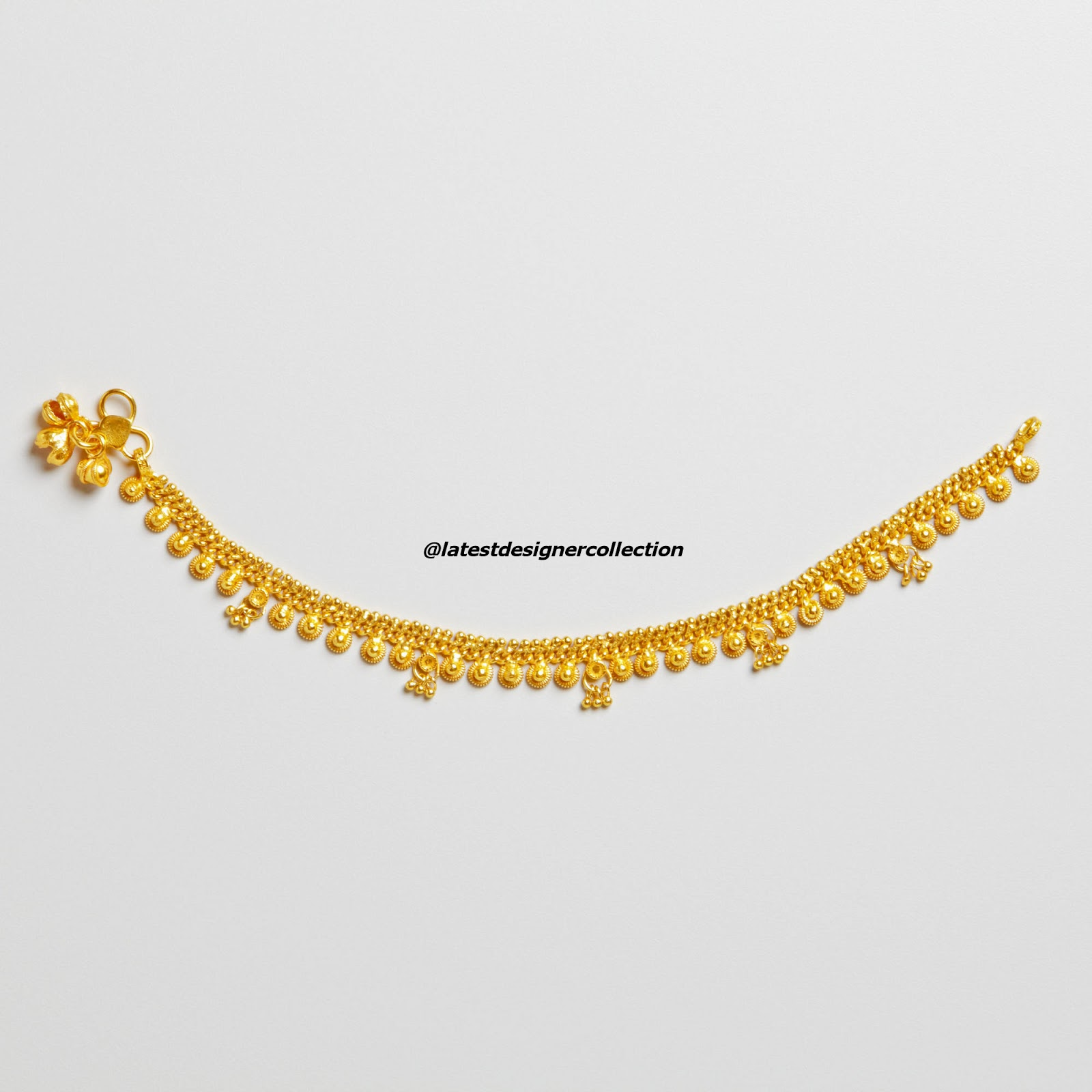 anklet designers chandni beautiful designer designs payal buy pearls original adiva glowing online
