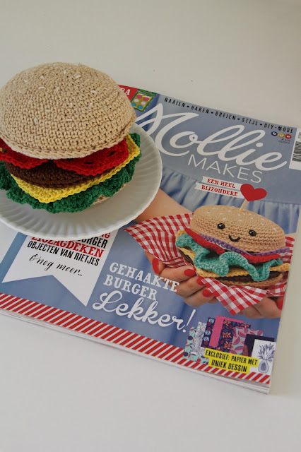 Crochet, Gehaakt/ crochet, gehaakte hamburger, mollie makes, speeleten haken, Studio Mojo,