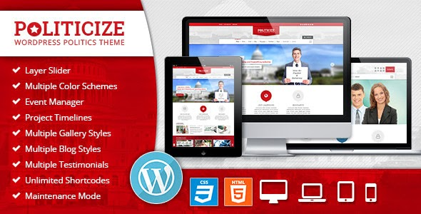 Politicize v2.4.0 WordPress Theme Download Free Nulled
