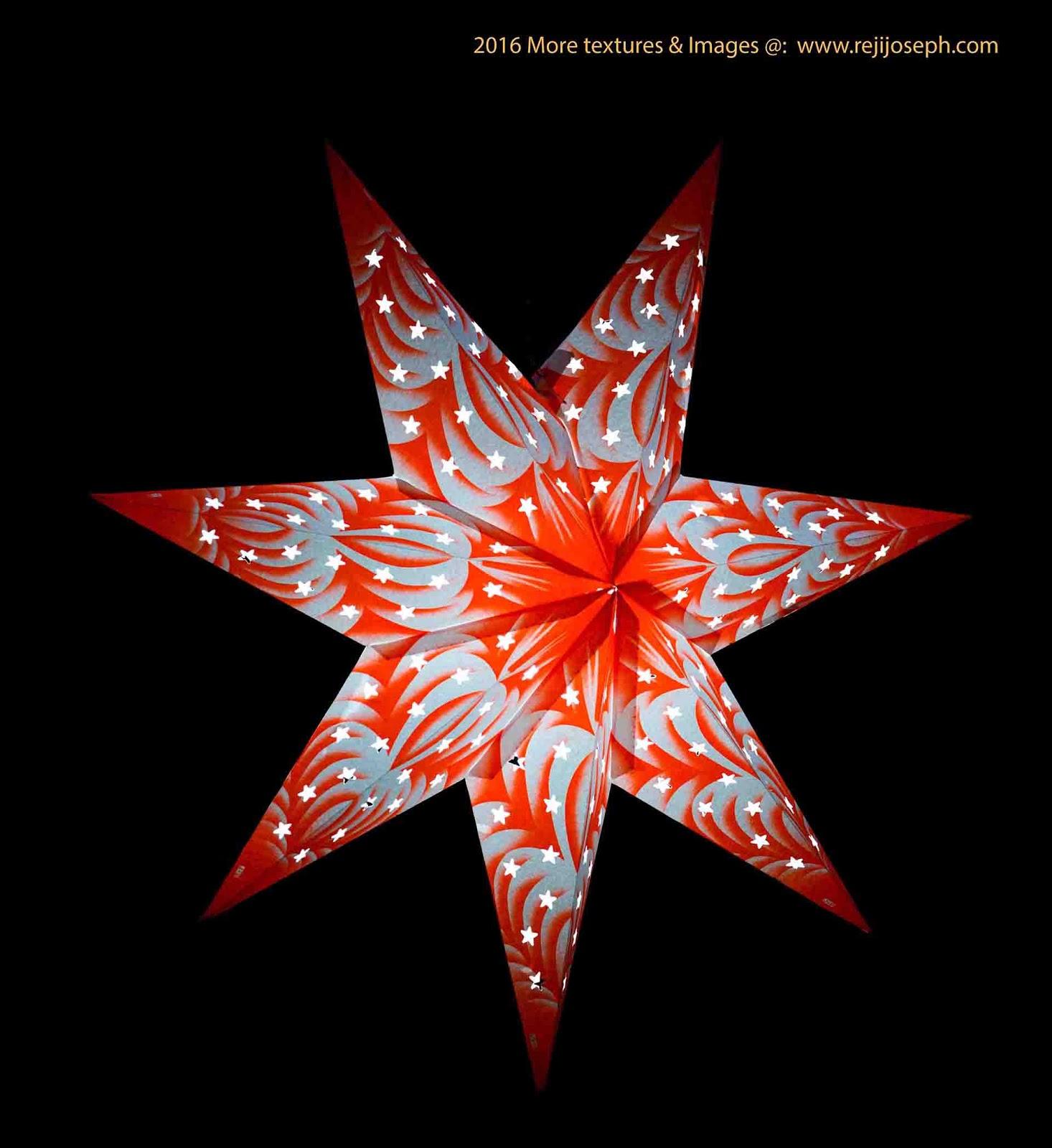 Christmas star Illumination light decoration 00015