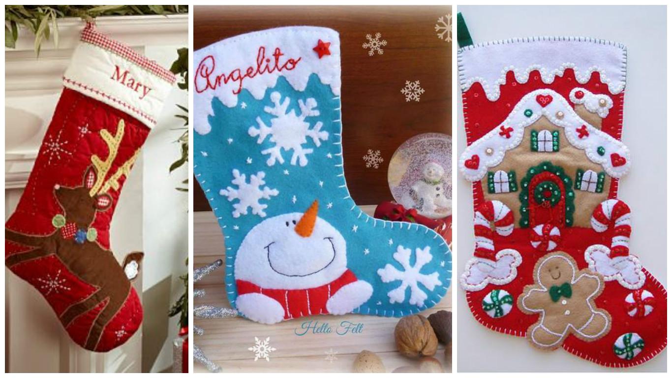personaliza tu bota navidea bordando nombres de los nios o amigos a quienes piensas regalar estas botas navideas