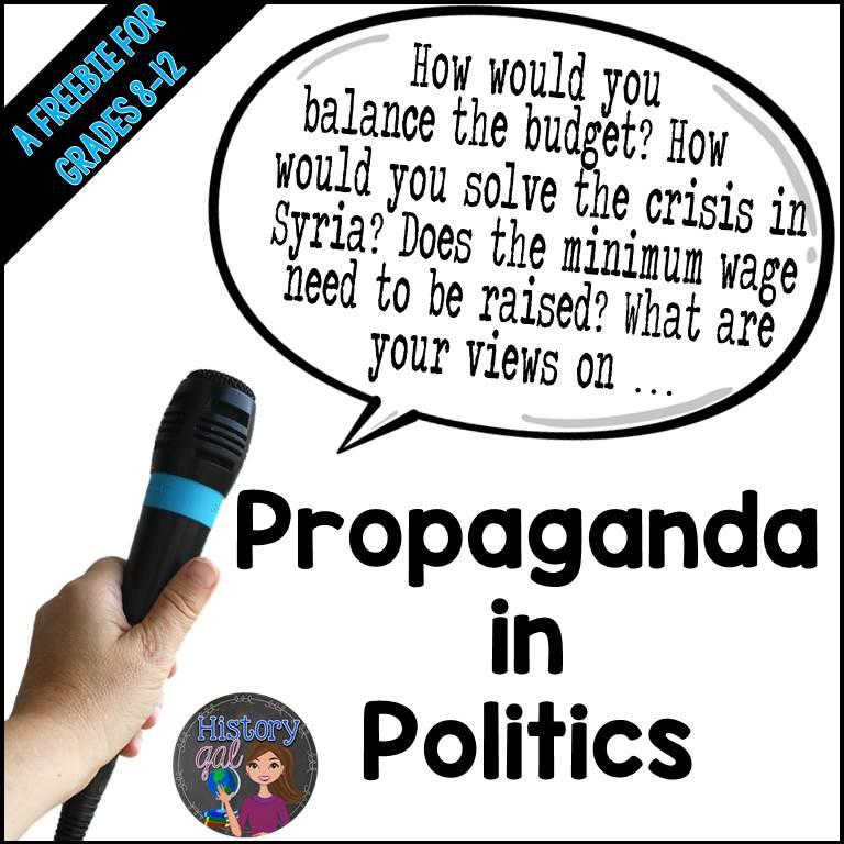 Free Propaganda and Politics Activities from History Gal