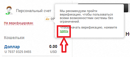 Advanced Cash верификация 1