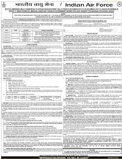 Telangana IAF Recruitment Rally Siddipet 2018 Notification for Airmen Group Y, IAF Medical Assistant Govt Jobs, Syllabus