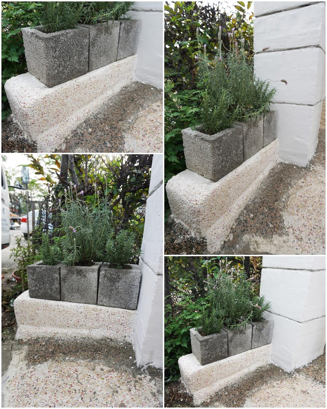 DIY 修補圍牆 --- 水泥修補+抿石子+小花檯