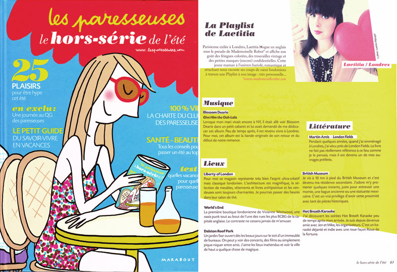 Les Paresseuses - Summer 2011 - Playlist
