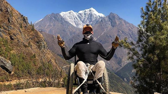Scott Doolan first paraplegi to reach Everest Base Camp