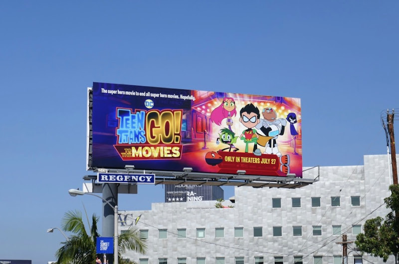 Teen Titans Go Movies billboard