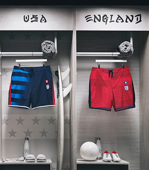 a26a68b39 ... Hurley  trolled  the US national team by putting flip flops on the  picture instead of football boots as the team did not qualify for the 2018  World Cup.