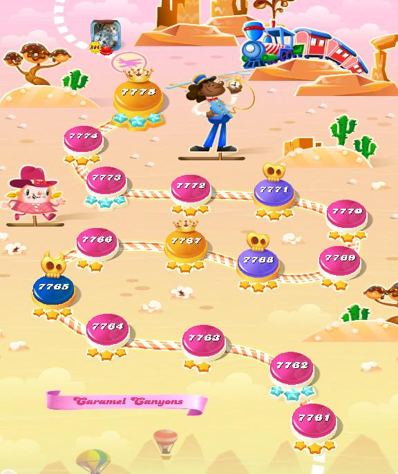 Candy Crush Saga level 7761-7775