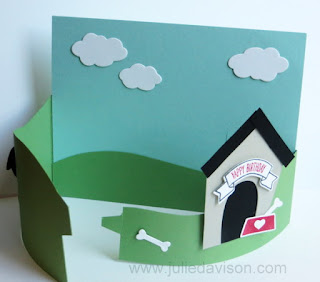 Stampin' Up! Home Sweet Home Yappy Birthday Fox Builder Punch Dog Bendy Card + Video Tutorial #stampinup www.juliedavison.com