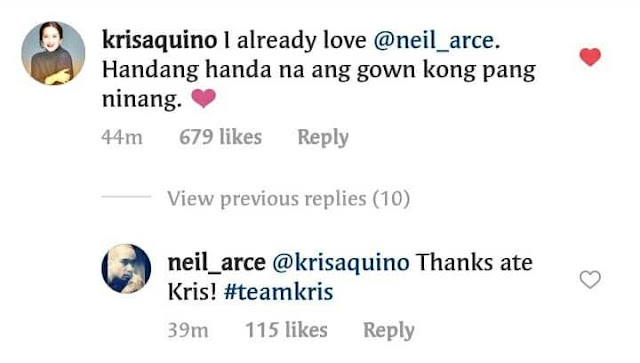 Kris Aquino Says She Already Loves Neil Arce! Here's Why!
