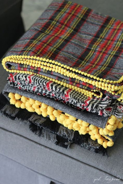 DIY flannel blanket gift idea