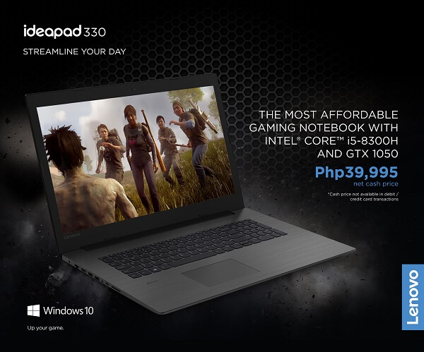 Get the Lenovo IdeaPad 330 Gaming Laptop for Only Php39,995