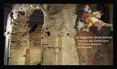 La leggenda della Befana narrata dai sotterranei di Piazza Navona - Visita guidata per bambini Roma