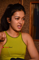 Actress Catherine Tresa Pos during Self Dubbing for Gautham Nanda Movie  0070.JPG