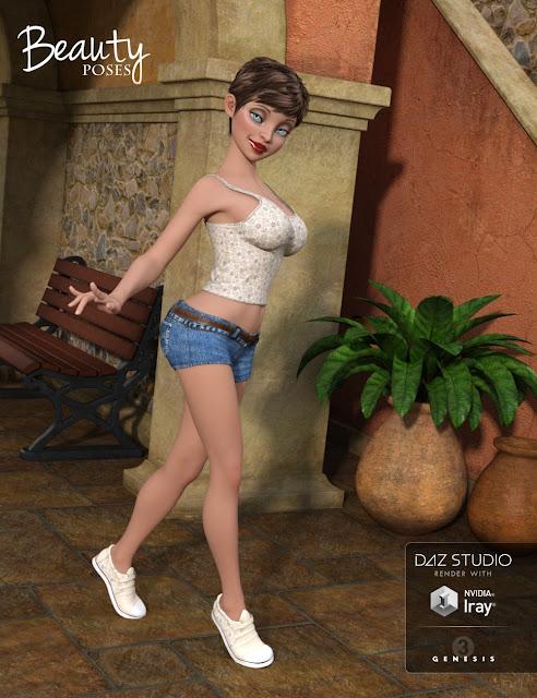Girl 7 Beauty Poses