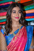 Puja Hegde looks stunning in Red saree at launch of Anutex shopping mall ~ Celebrities Galleries 077.JPG